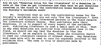 double donation Jan 24 1991 congregation letter