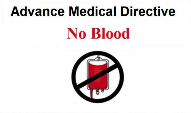 no blood card