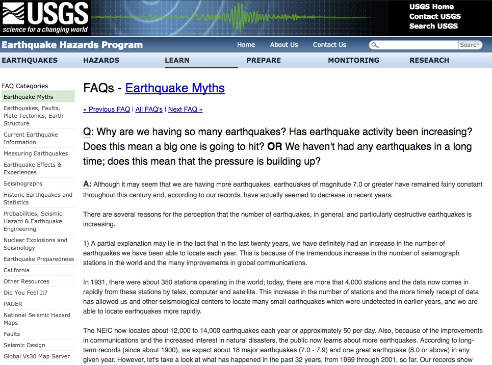 Facts about Earthquakes since 1914 and Jehovah's Witnesses